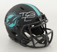 Tua Tagovailoa Signed Dolphins Eclipse Alternate Speed Mini-Helmet (Fanatics Hologram) at PristineAuction.com
