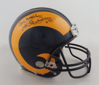 """Kurt Warner & Eric Dickerson Signed Rams Full-Size Authentic On-Field Helmet Inscribed """"God Bless You"""" (Beckett COA) at PristineAuction.com"""