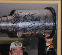 Mario Lemieux Signed Penguins 12.5x15.5 Framed Photo (Beckett LOA) (See Description) at PristineAuction.com