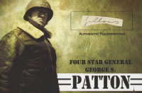 George S. Patton 4x6 Photo With Authentic Hand-Written Word Cut (JSA LOA) at PristineAuction.com
