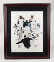 300 HR & 300 SB Club 28x33 Custom Framed LE Lithograph Display Signed by (4) with Barry Bonds, Willie Mays, Andre Dawson & Bobby Bonds (Hollywood Collectibles COA) (See Description) at PristineAuction.com
