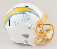 """Shawne Merriman Signed Chargers Full-Size Speed Helmet Inscribed """"Lights Out"""" (PSA COA) (See Description) at PristineAuction.com"""
