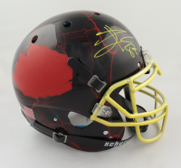 Travis Kelce Signed Full-Size Authentic On-Field Hydro-Dipped Helmet (Beckett COA) at PristineAuction.com