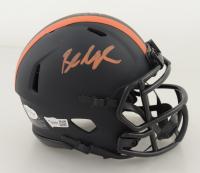 Baker Mayfield Signed Browns Eclipse Alternate Speed Mini Helmet (Beckett COA & Fanatics Hologram) (See Description) at PristineAuction.com