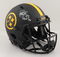"""Troy Polamalu Signed Steelers Full-Size Authentic On-Field Eclipse Alternate Speed Helmet Inscribed """"HOF 20"""" (JSA COA) at PristineAuction.com"""