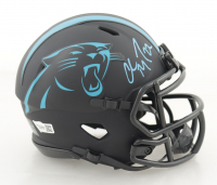 Christian McCaffrey Signed Panthers Eclipse Alternate Speed Mini Helmet (Fanatics Hologram) at PristineAuction.com