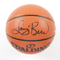 Larry Bird Signed NBA Game Ball Series Basketball (Steiner COA) at PristineAuction.com