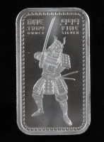 1 Ounce .999 Fine Silver Samurai Warrior Bullion Bar at PristineAuction.com