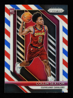Collin Sexton 2018-19 Panini Prizm Prizms Red White and Blue #170 at PristineAuction.com