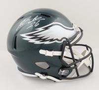 Miles Sanders Signed Eagles Full-Size Speed Helmet (JSA COA) at PristineAuction.com