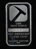 1 Troy Oz .999 Fine Silver Pan American Silver Corp Bullion Bar at PristineAuction.com