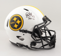 """Troy Polamalu Signed Steelers Full-Size Authentic On-Field Lunar Eclipse Alternate Speed Helmet Inscribed """"HOF 20"""" (JSA COA) at PristineAuction.com"""