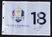 """Tommy Fleetwood Signed 2018 Ryder Cup Golf Pin Flag Inscribed """"Champs!"""" (JSA COA) at PristineAuction.com"""