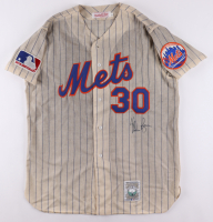Nolan Ryan Signed Mets Throwback 100th Anniversary Jersey (JSA COA) (See Description) at PristineAuction.com