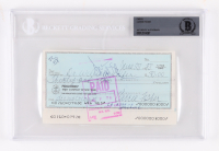Carrie Fisher Signed 1978 Personal Bank Check (BGS Encapsulated) at PristineAuction.com