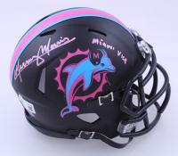 "Mercury Morris Signed Dolphins Matte Black Miami Vice Speed Mini Helmet Inscribed ""Miami Vice"" (Beckett Hologram) (See Description) at PristineAuction.com"