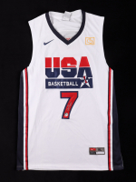 Larry Bird Signed Team USA Jersey (Bird Hologram) at PristineAuction.com