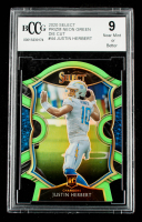 Justin Herbert 2020 Select Prizm Neon Green Die Cut #44 (BCCG 9) at PristineAuction.com