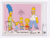 """Matt Groening Signed """"The Simpsons"""" 8x10 Photo With Hand Drawn Sketch Inscribed """"Yo, Joyce!"""", """"Your Pals"""" & """"3-15-1994"""" (BGS Encapsulated) at PristineAuction.com"""