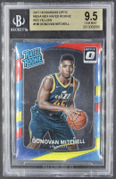 Donovan Mitchell 2017-18 Donruss Optic Mega Box Rated Rookie Red Yellow #188 RR RC (BGS 9.5) at PristineAuction.com