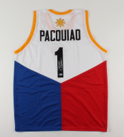 """Manny Pacquiao Signed Jersey Inscribed """"Pacman"""" (Beckett Hologram) at PristineAuction.com"""