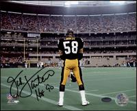 "Jack Lambert Signed Steelers 8x10 Photo Inscribed ""HOF 90"" (Schwartz Sports COA) at PristineAuction.com"
