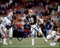 Bernie Kosar Signed Browns 8x10 Photo (PSA COA) at PristineAuction.com