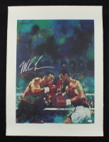 Mike Tyson Signed 22x30 Original LeRoy Neiman Fight Lithograph on Heavy Paper (PSA COA) at PristineAuction.com