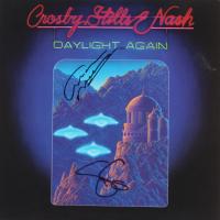 "Graham Nash & Stephen Stills Signed Crosby, Stills, Nash & Young ""Daylight Again"" Vinyl Record Album Cover (JSA Hologram) (See Description) at PristineAuction.com"