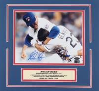 Nolan Ryan Signed Rangers 13x14 Custom Matted Photo Display (AIV COA & Ryan Hologram) at PristineAuction.com