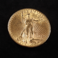 1924 $20 Twenty-Dollar Saint-Gaudens Double Eagle Gold Coin With Motto at PristineAuction.com
