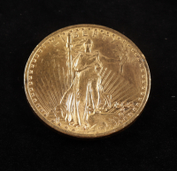1922 $20 Twenty-Dollar Saint-Gaudens Double Eagle Gold Coin With Motto at PristineAuction.com
