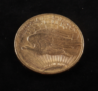 1910 $20 Twenty-Dollar Saint-Gaudens Double Eagle Gold Coin With Motto at PristineAuction.com