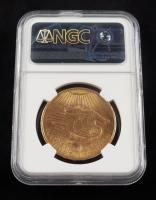 1908 $20 Twenty-Dollar Saint-Gaudens Double Eagle Gold Coin (NGC) (No Motto) at PristineAuction.com