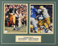 Paul Hornung & Fuzzy Thurston Signed Packers 16x20 Custom Matted Display (JSA COA) at PristineAuction.com