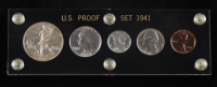 1941 United States Mint Proof Set with (5) Coins (Toned) at PristineAuction.com