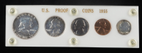 1955 United States Mint Proof Set with (5) Coins (Toned) at PristineAuction.com