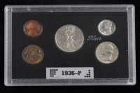 1936-P United States Mint Coin Set with (5) Coins at PristineAuction.com