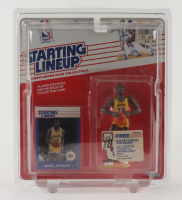 Magic Johnson Lakers Starting Lineup Action Figurine with Sealed Trading Card at PristineAuction.com