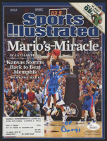 """Mario Chalmers Signed 2008 Sports Illustrated Magazine Inscribed """"08 Champs""""(JSA COA) at PristineAuction.com"""