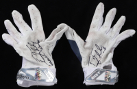 """Tim Tebow Signed Pair of Game-Used Adidas Football Gloves Inscribed """"Game Used"""" (Tebow COA) at PristineAuction.com"""