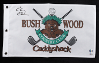"""Chevy Chase Signed """"Caddyshack"""" Bushwood Country Club Pin Flag (Beckett COA & Chase Hologram) at PristineAuction.com"""