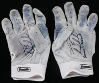 """Tim Tebow Signed Pair of Game-Used Franklin Baseball Gloves Inscribed """"Game Used"""" (Tebow COA) at PristineAuction.com"""