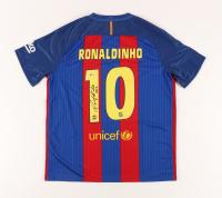 "Ronaldinho Signed Jersey Inscribed ""R10"" (Beckett COA) (See Description) at PristineAuction.com"