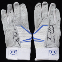"""Tim Tebow Signed Pair of Game-Used Under Armour Football Gloves Inscribed """"Game Used"""" (Tebow COA) at PristineAuction.com"""