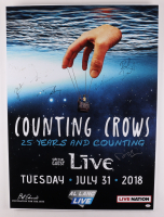 """""""Counting Crows"""" 28x38 Lobby Card Signed by (7) with Adam Duritz, David Bryson, Jim Bogios, Millard Powers (PSA LOA) (See Description) at PristineAuction.com"""