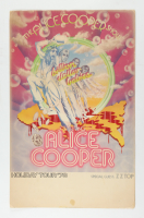 """1973 """"The Alice Cooper Show"""" 14x22 Original Tour Poster with ZZ Top at PristineAuction.com"""