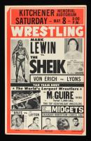 Mark Lewin vs The Sheik 14x22 Original Wrestling Poster at PristineAuction.com