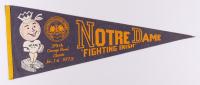 1973 Notre Dame Fighting Irish Orange Bowl Pennant at PristineAuction.com