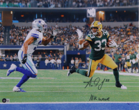 """Aaron Jones Signed Packers 16x20 Photo Inscribed """"10k Wave"""" (Beckett Hologram) at PristineAuction.com"""